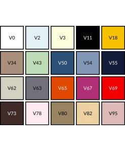 Kleurenkaart Lysdrap perkaal katoen