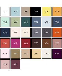 Kleurenkaart Lysdrap satijn