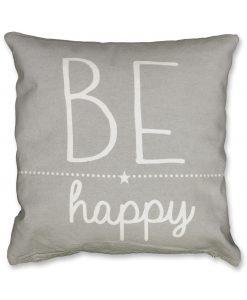 Be Happy cushion Grey HR