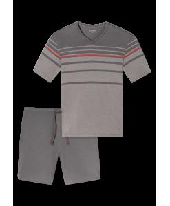 157070-310_detail1-Schiesser-selected-premium-inspiration-kurzer-taupe-farbener-Schlafanzug-fuer-Herren