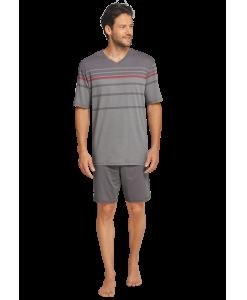 157070-310_detail2-Schiesser-selected-premium-inspiration-kurzer-taupe-farbener-Schlafanzug-fuer-Herren