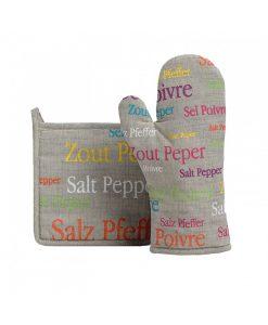 Manique sel et poivre gris