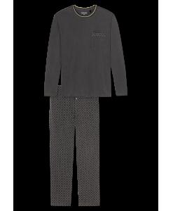 159205-203_detail1-Schiesser-selected-premium-inspiration-langer-anthrazit-farbener-Schlafanzug-fuer-Herren