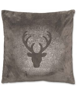 Glitter Rudolph cushion Dark Grey