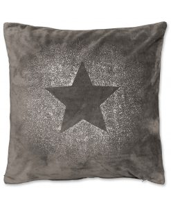 Glitter Star cushion Dark Grey