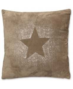 Glitter Star cushion Taupe