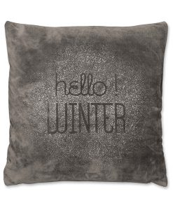 Hello Winter cushion Dark Grey