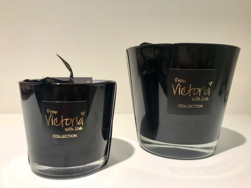 Geurkaars from victoria with love glossy black