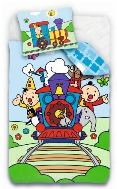 Bumba dekbedovertrek met trein