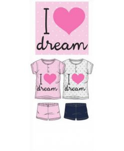 pyjama meisjes korte mouwen I Love To Dream