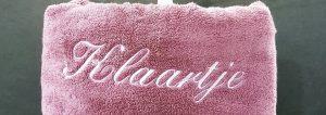 Voorbeeld geborduurde handdoekenset