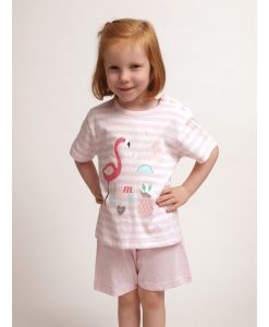 Pyjama jersey summer flamingo girls korte broek Cocodream
