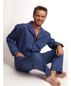 Pyjama lange broek geweven katoen tie heren Outfitter