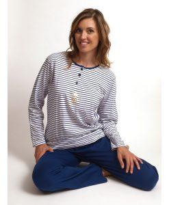 Pyjama lange broek jersey anchor dames