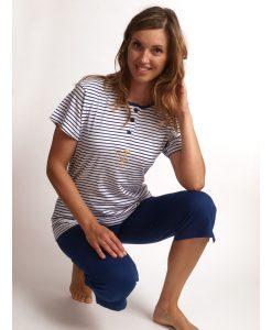 Pyjama Cocodream vrouwen bermuda jersey anchor