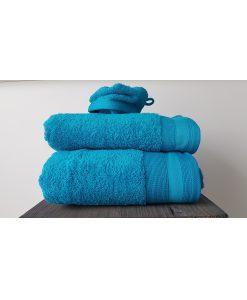 De Witte Lietaer Excellence Lagoon Blue handdoeken