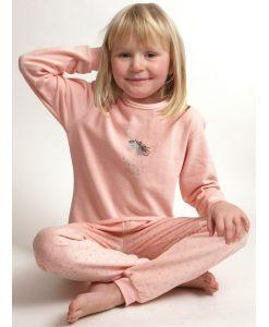 Pyjama cocodream velours meisjes make a wish