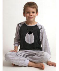 Pyjama velours Outfitter jongens beertje