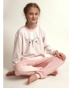 Cocodream pyjama meisjes velours girls fox lange broek
