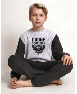 Pyjama jongens velours outfitter drone squadron