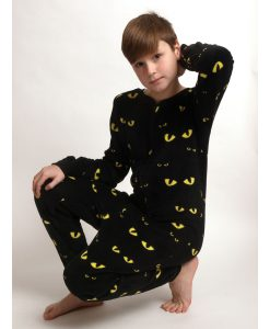 Onesie kids coral fleece eyes