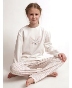 Pyjama Cocodream polar/flanel girls lama lange broek