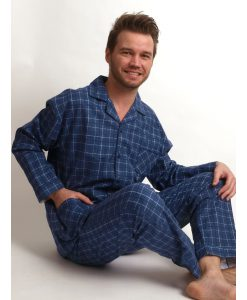 Pyjama Outfitter flanel square heren