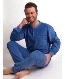 Outfitter pyjama velours patterns heren