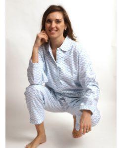 Pyjama Cocodream dames lange mouwen flanel lotus