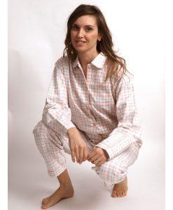Pyjama Cocodream dames lange mouwen flanel lama