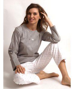 Pyjama Cocodream lange mouwen strikjes interlock/flanel