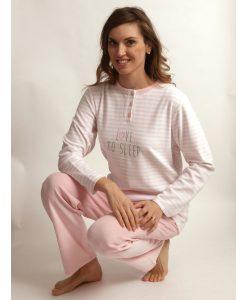 Pyjama Cocodream dames lange mouwen velours love to sleep