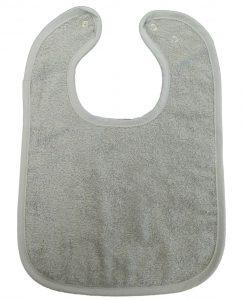 Bavet effen grijs met drukknop