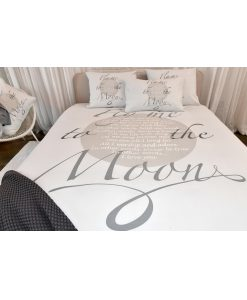 Dekbedovertrek Fly me to the Moon grey - Passion Home Linen