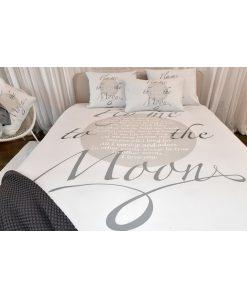 Dekbedovertrek Fly me to the Moon grey - Passion Home Linen