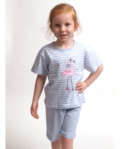 Pyjama Cocodream korte mouwen kids pink dreams flamingo