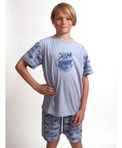 Pyjama Outfitter korte mouwen kids shark attack