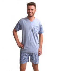 Pyjama Outfitter korte mouwen heren waves