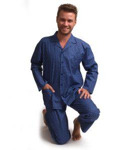 Pyjama Outfitter lange mouwen heren geweven katoen arrow