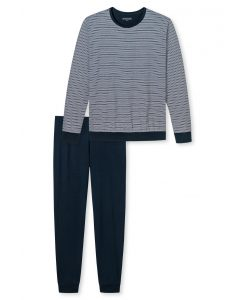 Schiesser pyjama lange mouwen Stylish Narrow Blue