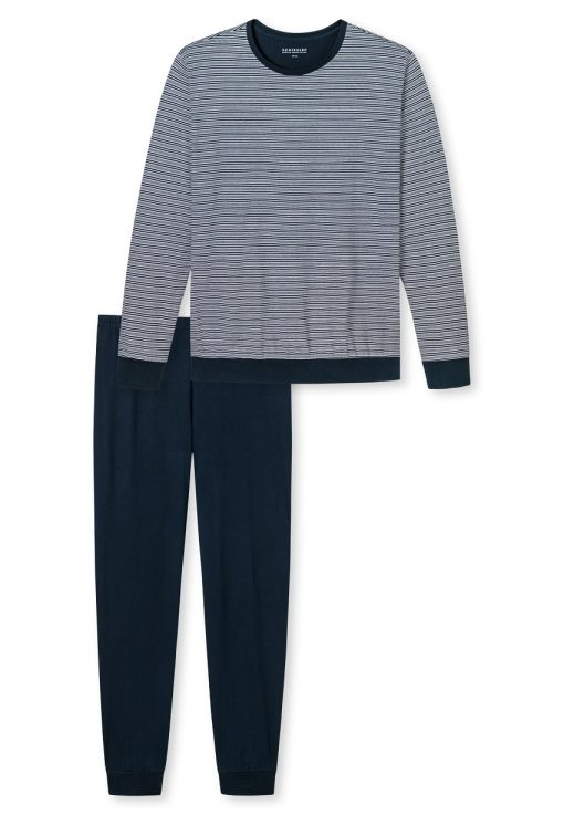 Schiesser pyjama lange mouwen Stylish Narrow Blue