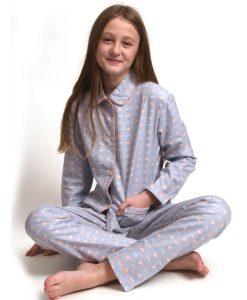 Pyjama lange mouwen kids eyes & hearts flanel Cocodream meisjes