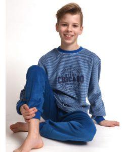 Pyjama lange mouwen kids Chicago velours Outfitter jongens