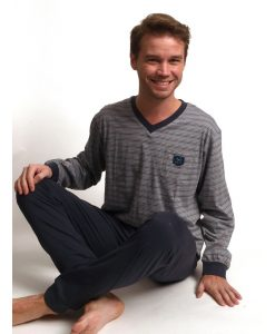 Pyjama lange mouwen heren fox jersey Outfitter