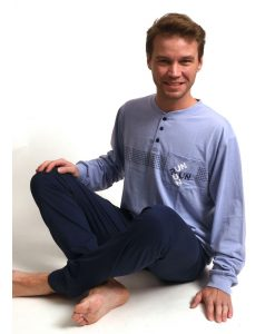 Pyjama lange mouwen heren run interlock Outfitter
