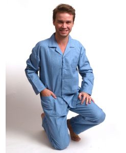 Pyjama Outfitter flanel lange mouwen dot