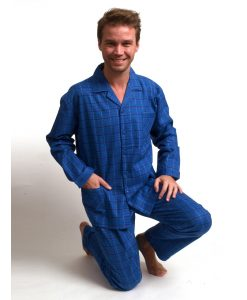 Pyjama Outfitter heren lange mouwen geruit flanel