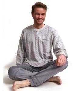 Pyjama lange mouwen heren pocket velours Outfitter