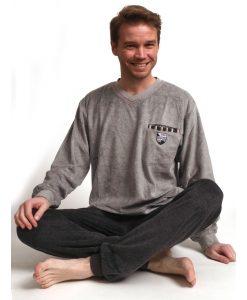 Pyjama lange mouwen heren skipper velours Outfitter