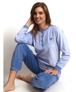 Pyjama lange mouwen bambi velours Cocodream dames